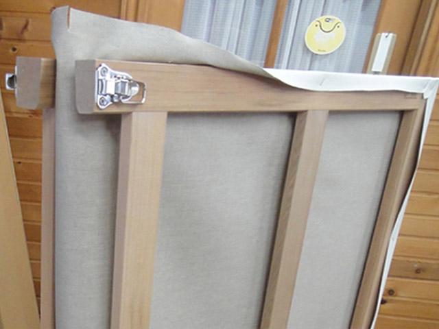 二つ折り木枠
